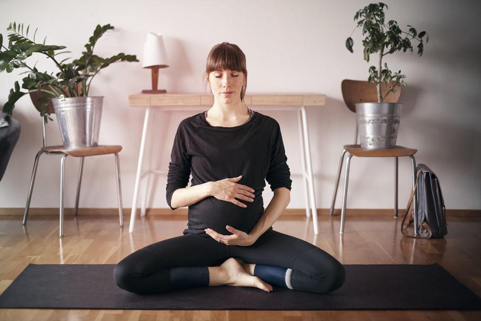 těhtenská joga Dvě duše najógamatce